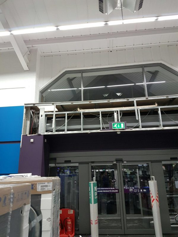 Internal works at Currys, Tamworth
