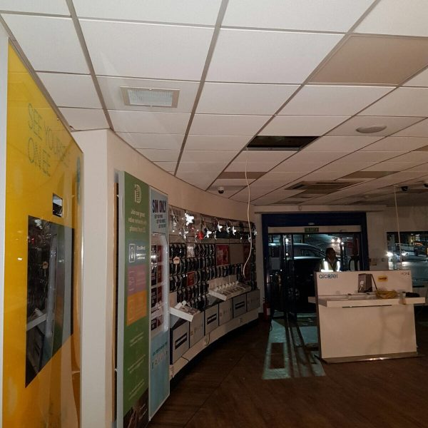 Grid Ceiling Repairs After Fire Damage Carphone Warehouse